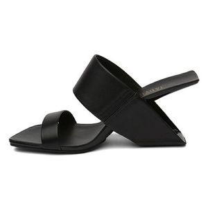 9f2e855a838 Jady Rose Shoes - Black Thick Strap Leather Sandals